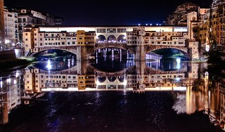ponte vecchio in florence (italy), night hdr - firenze, italia | by Paolo Margari | paolomargari.eu