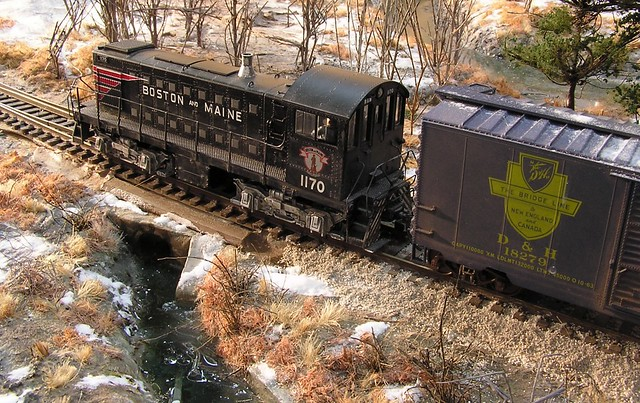 Boston and Maine S1 and boxcar