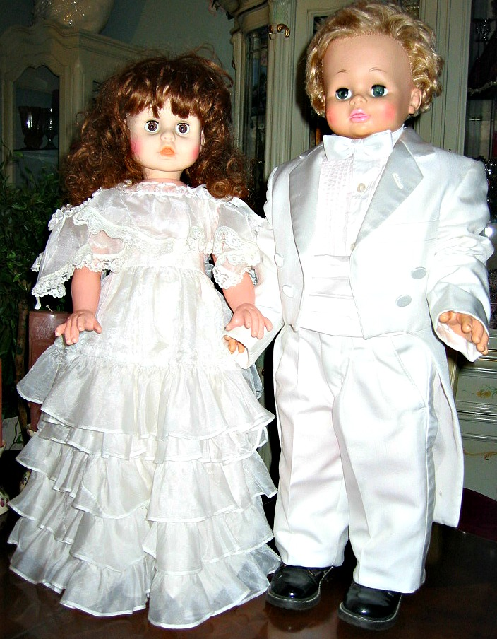 little couple in white