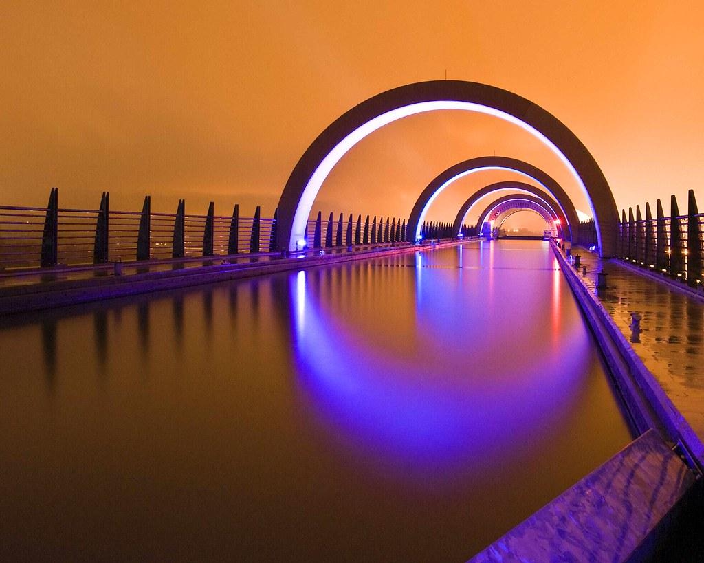 Falkirk Wheel At Night Falkirk Wheel At Night Flickr