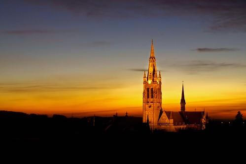 sunset church beautiful wow belgium belgique olympus nuit eglise wallonie e510 arlon mywinners