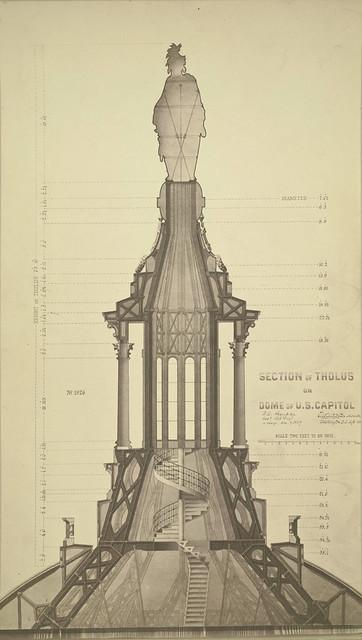Washington, D. C. Section of Tholus on U. S. Capitol Dome