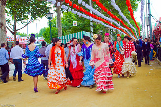 Typical scene from the Feria de Abril in Seville | by Tom Raftery