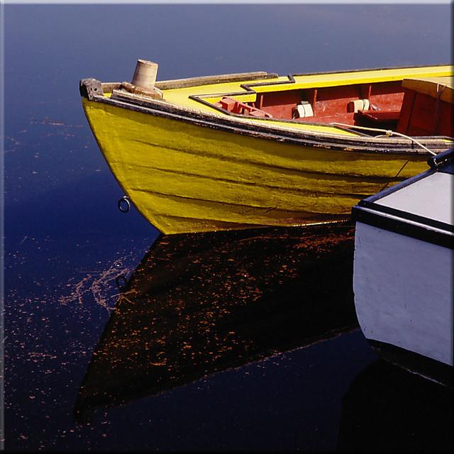 Yellow boat in PEI