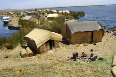 Uros Islands in Lake Titicaca