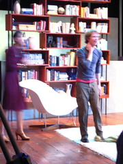 Sun, 2008-11-09 00:05 - Joey comes out of the couch... and comes out in the cut scenes from The House Theatre of Chicago's Dave DaVinci Saves the Universe.