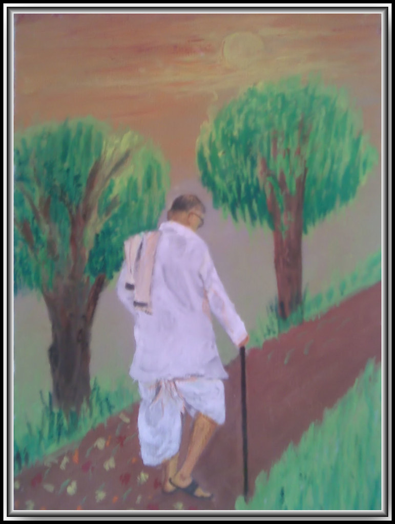 dadaji | This is the painting of Rev  Pandurang Shastri Atha