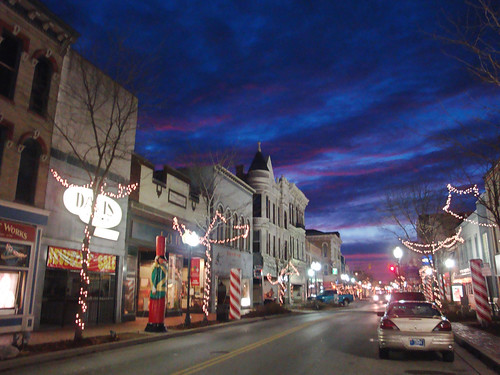 christmas sunset holiday clouds geotagged twilight downtown indiana richmond uptown waynecounty waynecountyindiana geo:lat=39830662 geo:lon=84890427 ecard holidays~and~seasons christmas