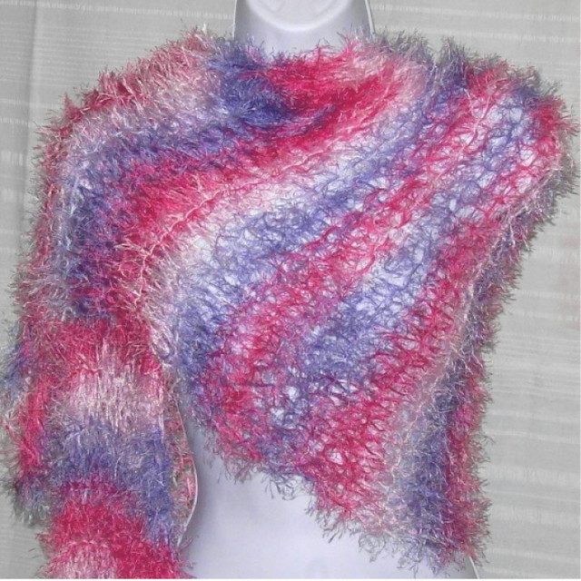 Scarf/Shawl in Cotton Candy Fuzzy | KnitwitHues | Flickr