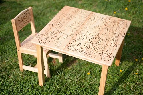 Butterfly class - Little table & chair