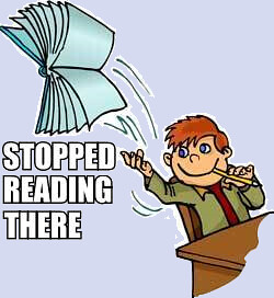 Image result for stopped reading there