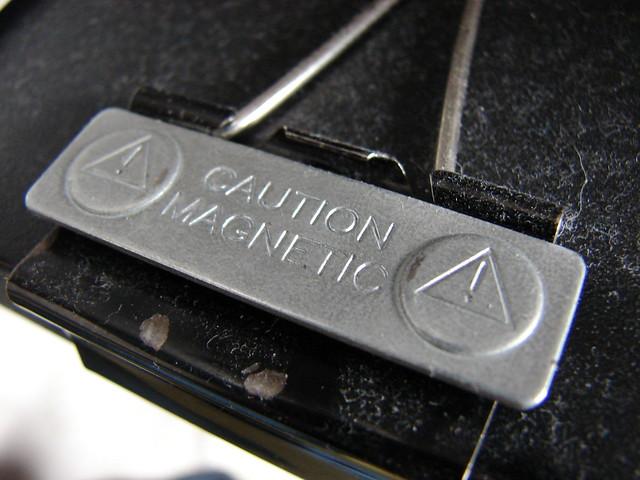 Caution Magnetic Magnet