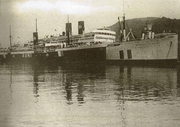 Port-Vendres, L´Asni y Le Marechal Lyautey, Barcos Hospitales