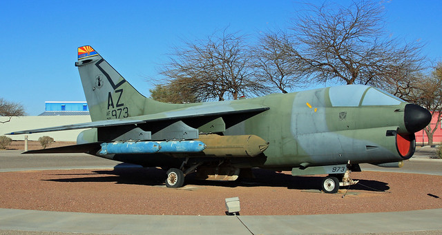 A-7 at the museum entrance