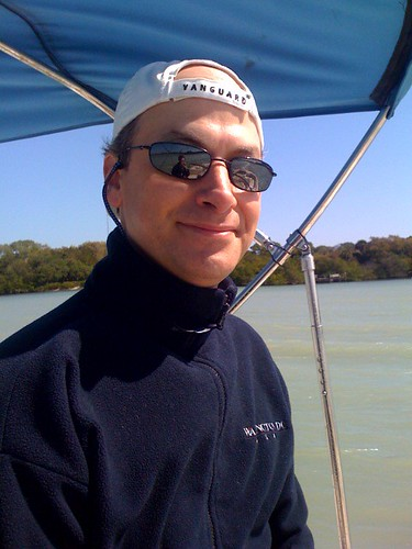 Paul Dunay driving the boat in Florida | by phdunay