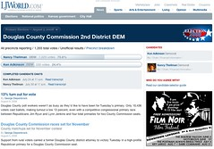 Douglas County Comission 2nd District Democratic primary section   by postneo