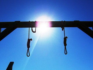Two hangman's nooses outside the court house in Tombstone, AZ  (tombstone16) | by mlhradio