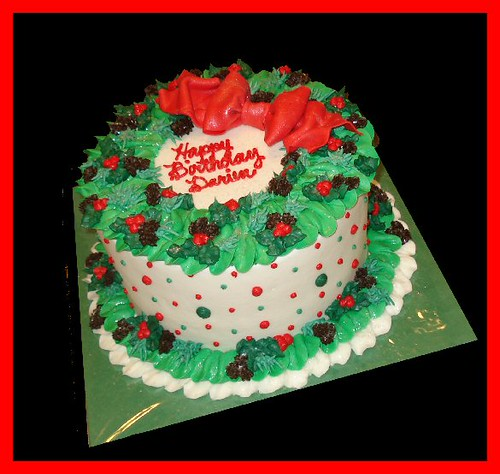 Christmas Birthday Cake.Christmas Birthday Cake For Darien Atasteofwhimsy Flickr