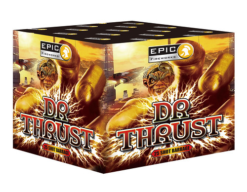 Dr Thrust 25 Shot Firework Barrage