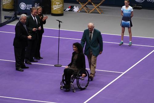 Chantal Vandierendonck with John Barrett | by tennis buzz