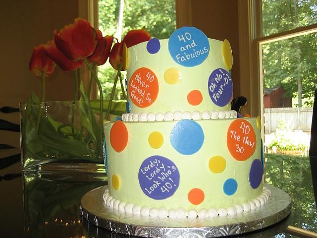 Strange 40Th Birthday Cake A Fun Birthday Cake For A 40Th Birthday Flickr Funny Birthday Cards Online Eattedamsfinfo
