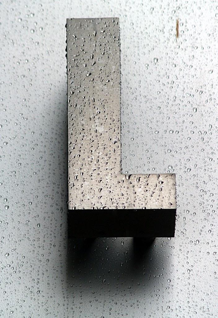 Wet Aluminum Capital Letter L Washington DC