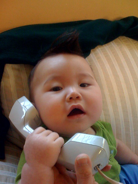 talking to mama   i miss him so much during the day, so i ca…   Flickr