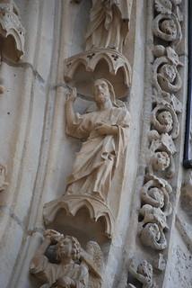 Chartres - katedra; portal północny - arkada centralna; XIII w. | by foto daniel