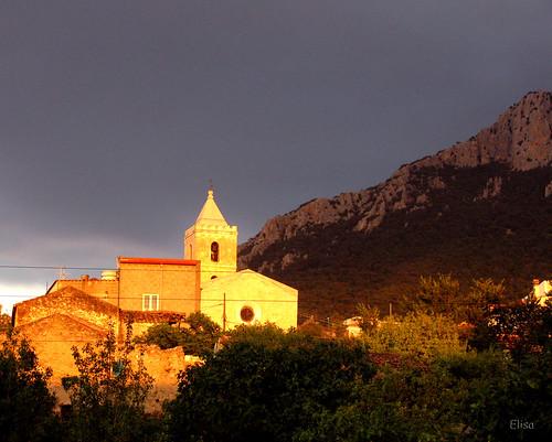 sardegna sunset sun relax casa tramonto sardinia chiesa campanile cielo sole montagna luce elisa barbagia oliena abigfave corrasi