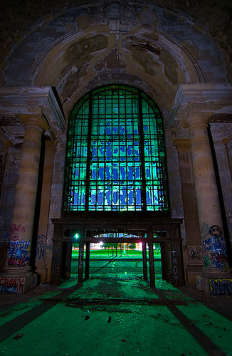 abandoned station night michigan detroit central terminal depot