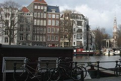 Amsterdam canal houses and the Amstel river | by holland-photo