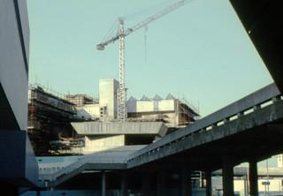 Hayward Gallery, Under construction.