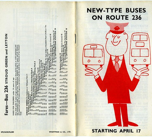 New Buses on London Transport route 236   1971