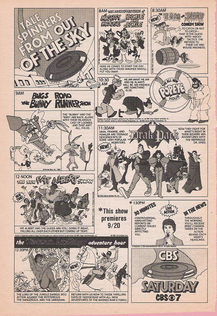 CBS Saturday Morning Cartoons ad, 1980 | There was something