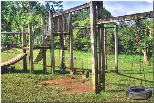 park trees mountain green nature grass playground garden philippines slide swing resort eden davao davaocity davaodelsur