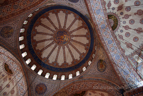 Looking up at the tiles in Blue Mosque, Istanbul, Turkey | by MsAdventuresinItaly