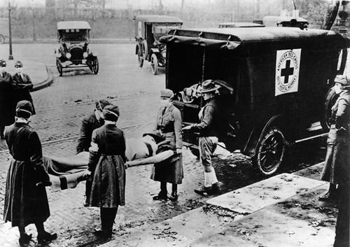 Caring for Spanish flu victims