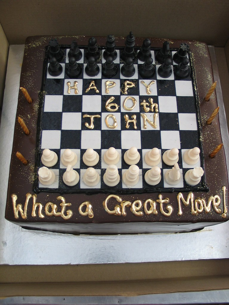 Chess birthday cake