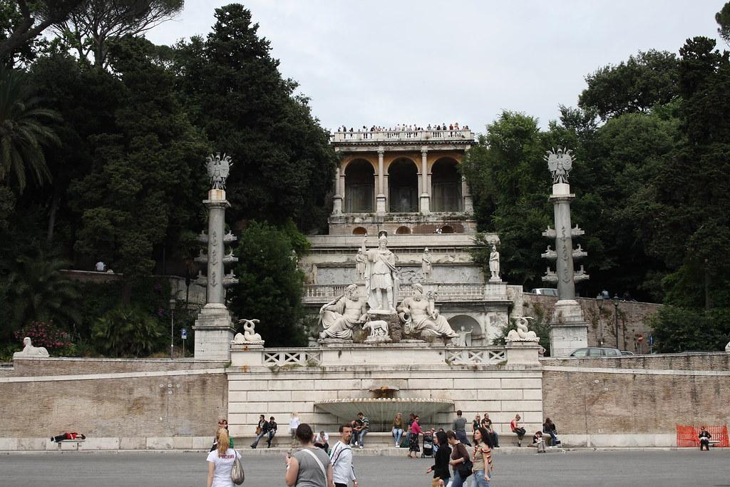 Terrazza Del Pincio Roma Da Piazza Del Popolo Marco La