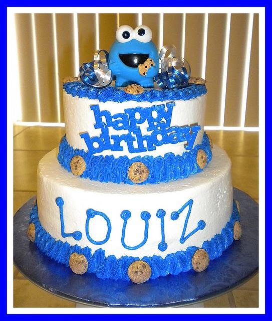 Strange Cookie Monster Birthday Cake Tinkabellz17 Flickr Personalised Birthday Cards Arneslily Jamesorg