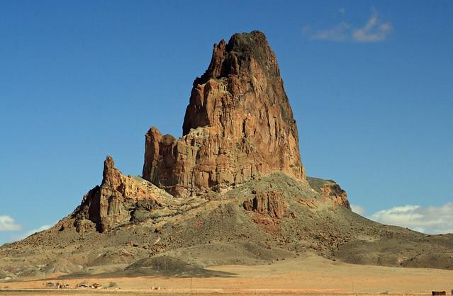 Agathla Peak, an old volcanic plug, outside of Kayenta, Arizona