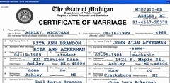 Rita and John's Marriage Certificate | by mary hodder