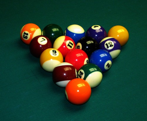 billiard balls | by Rennett Stowe