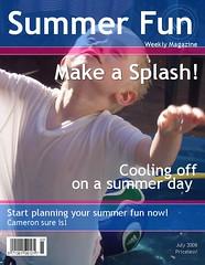 Summer Fun Magazine Cover by Dowbiggin