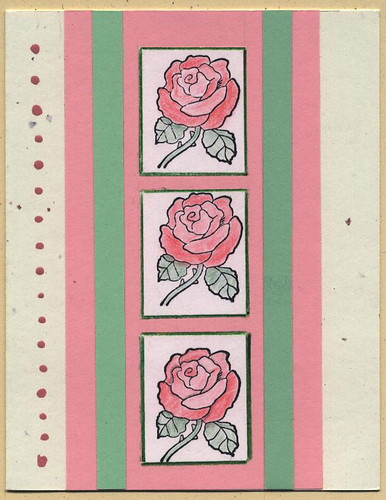 Rubberstamp roses card