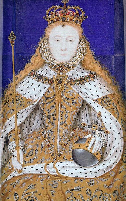 A miniature of the Coronation Portrait of Elizabeth I