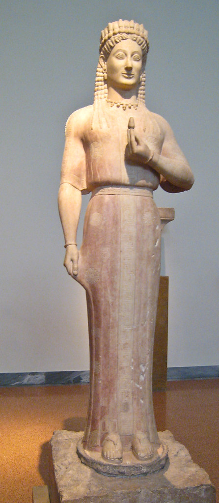 Statue Of A Kore Parian Marble Merenda Ancient