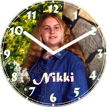 Nikki Child Clock | by customclockface