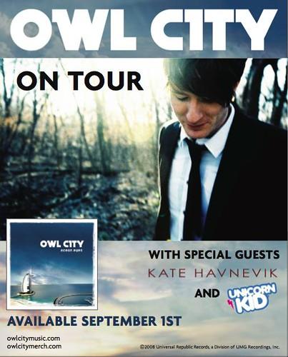 Owl City tour poster!   Kate Havnevik   Flickr
