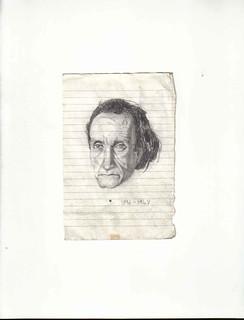 Zavier Ellis 'Mad Genius #2', 2006 Pencil on paper 14.8x10.7cm